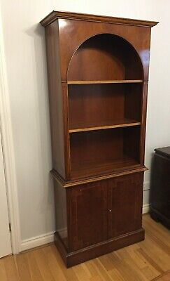 Antique Reproduction Tall Yew Bookcase