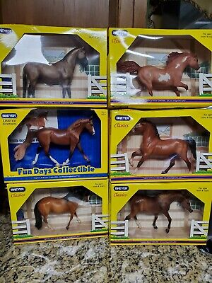 Breyer Classics and Limited Edition Fun Day Horses.  NIB Buyer picks 2 from 6