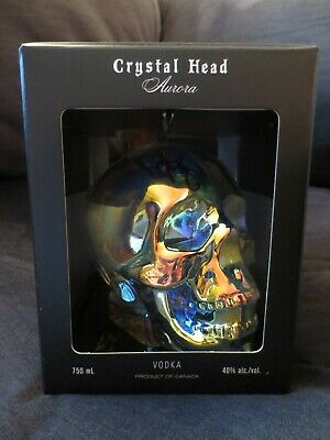 Signed Dan Aykroyd Crystal Head Aurora ~ Empty Bottle w/ Box