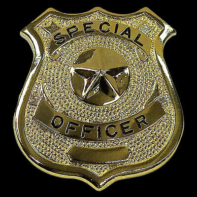 Gold Special Officer Shield Badge