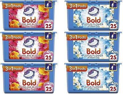Bold 3-in-1 Pods 25s - Case of 3 (Total 75 Tabs)