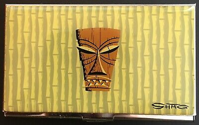 "Vintage ACME Studio ""Tiki #1"" Business Card Case by Josh ""SHAG"" Agle"