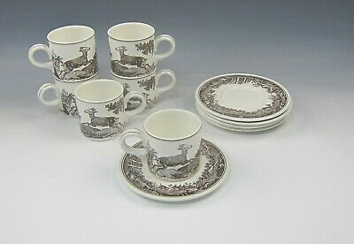 Lot of 6 Villeroy & Boch China ANJOU Cup & Saucer Sets
