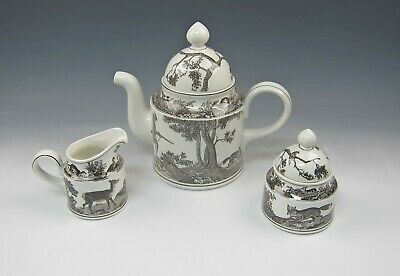 Villeroy & Boch China ANJOU Coffee Pot, Creamer, Sugar Bowl with Lid