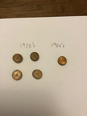 22 British 1/2 Pence Coins : 1970's & 80's. Various Quality.