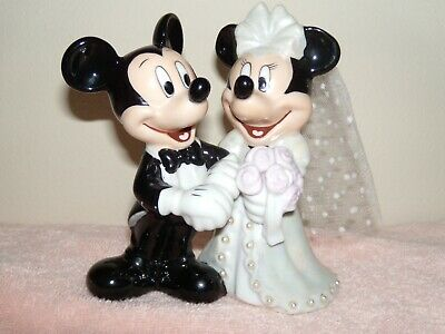 Mickey and Minnie Mouse Bride and Groom Wedding Ring Pillow