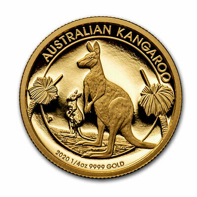 2020 Australia 1/4 oz Gold Kangaroo Proof (Box & COA) - SKU#210335