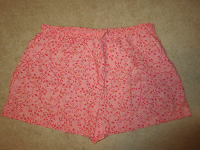 SLEEP SHORTS - Nine & Company - Pink Floral - Cotton - Sz XL - NWOT