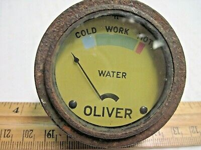 """Tractor Universal 2/"""" Water Temperature Gauge Numeric 6 Feet Cable"""