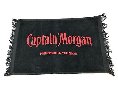 "Captain Morgan - Promotional - Bar Towel - 17""x12.5"" - RARE"
