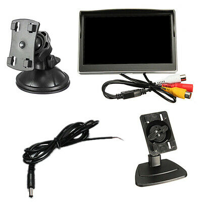 """5/"""" TFT LCD Display Monitor With HD Car Rear View Reverse Parking Camera D6P2"""