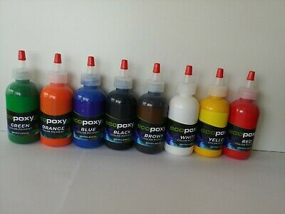 ECOPOXY COLOR PIGMENT KIT Epoxy Red Yellow Green Blue Black White Brown Orange