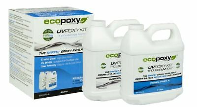 ECOPOXY UVPOXY 4 L KIT (Approximate US 1 gallon) Bar Top Table Epoxy Resin