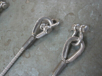 Stainless Steel Double leg 5' Wire Rope Sling