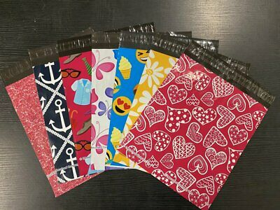 Factory Second Designer Printed Poly Shipping Mailers BULK Extremely Discounted
