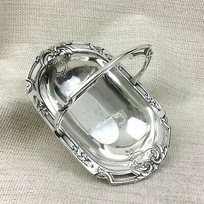 Christofle Silver Plated Basket Bowl Sweetmeat Dish Antique French Art Nouveau