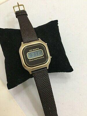 Vintage Texas Instruments Lcd Watch Very Rare!!
