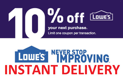 [[INSTANT]] 1× One Lowes 10% OFF FASTEST DELIVERY DISCOUNT-1COUPON INSTORE ONLY