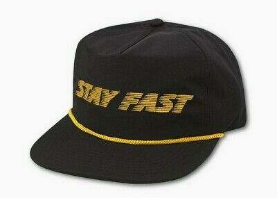 New ATWYLD Stay Fast 5 Panel Hat Women's Black/Yellow #AW118010-BLK