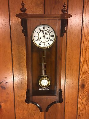 Antique Vienna Regulator Wall Clock Not Running Maker? Bim Bam Strike Project