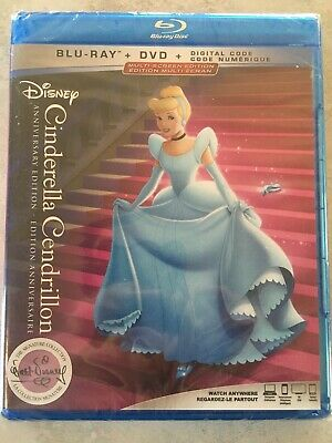Disney Cinderella Blu-Ray & DVD Canada Bilingual NO DC LOOK