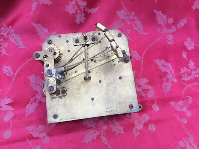 Large British Chiming  Clock Movement For Spares Or Repair Good Springs