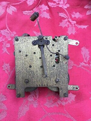 Unbranded  2 Train Striking Clock Movement For Spares Or Repair Good Springs