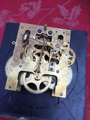 HAC  2 Train Striking Clock Movement For Spares Or Repair Good Springs