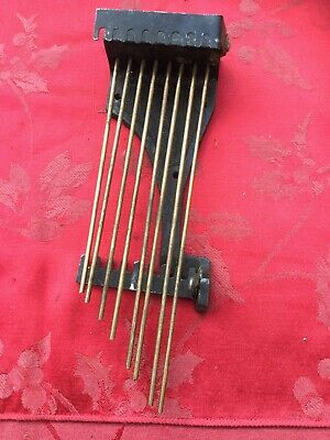 Rare Set Of 8 Gongs Gong Rods From Mantel Clock