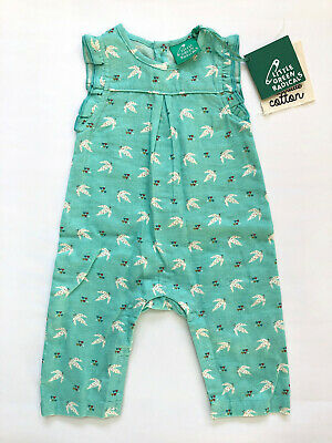 No Added Sugar Liberty Print Floral Baby Bubble Playsuit BNWT 3-6 Months Green