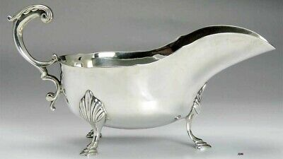 American Sterling Silver Heavy Weight Georgian Style Gravy / Sauce Boat