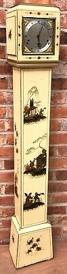 Stunning Elliott London Chinoiserie Japanned Grandmother Clock Musical