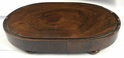 Lovely Antique Rose Wood Skeleton Clock Base Taxidermy Base For Glass Dome