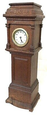 Antique Miniature Long Case Grandfather Clock Working