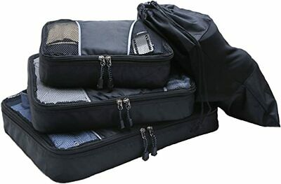 3pc Packing Cubes, Suitcase, Luggage Organizer for Travel & Storage, + Shoe Bag