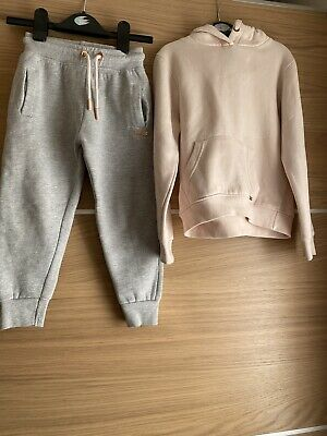 Kids Girls Firetrap Hoodie And Trouser Pink 4-5 Years