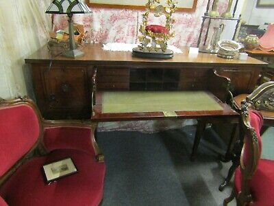 Antique Regency English Mahogany Sectraire Country House Sideboard Food Server