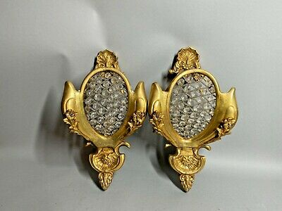 Antique Pair Of French Louis Xvi Style Wall Sconces Free Worldwide Shipping