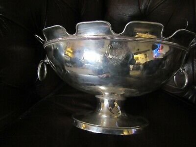 Amazing French Antique Silver Plated Crown Barons Nobility 12 Glass Monteith