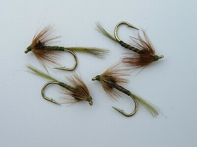 Fly Fishing Cruncher Nymph Trout Flies 12 Pack Red Crunchers Mixed 10//12//14