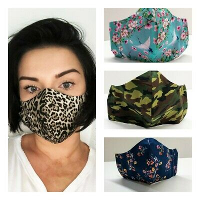 NEW Face Mask ADULT/ TEENAGERS 100% cotton breathable fabric