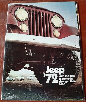 "1972 Jeep ""with the guts"" vintage dealership brochure catalog"