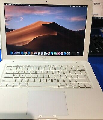 """Apple MacBook White 13"""" A1342 120GB HDD, 2gb Ram)WITH  OSX MOJAVE 10.14 mid 2010"""