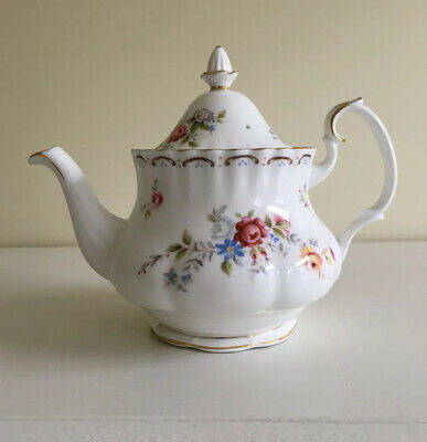 Royal Albert Jubilee Rose Teapot With Cracked Lid