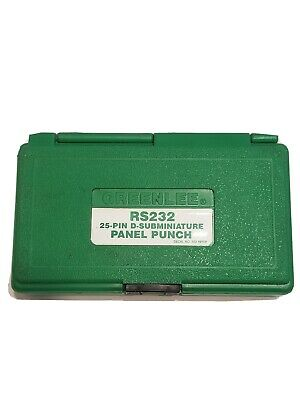 Greenlee RS232 25-Pin D-Subminature Panel Punch Set