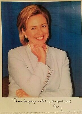 Hillary Clinton Signature Photo Senate Promotional Package 1999 Letter Donate