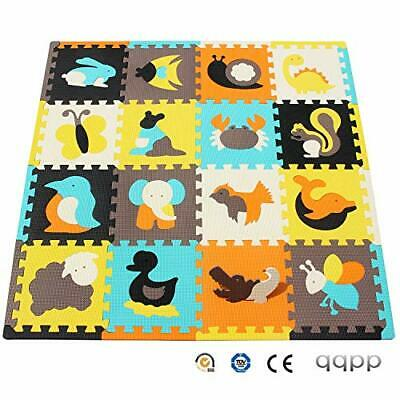 qqpp Mat,Soft EVA Foam Baby Play Mats For Floor, (16pcs 30*1cm|QQP-49b16S16)