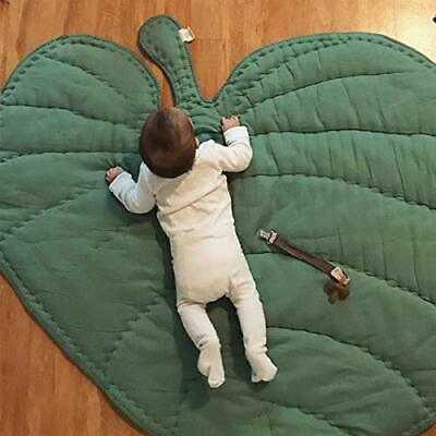 Green Gary Leaf Type Baby Play Mat Cotton Soft Baby Sleeping Mats Floor (Green)