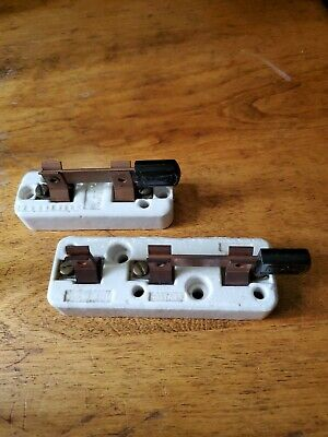 Pair Of Antique LEVITON Ceramic Knife Switches. One SPST, One SPDTSteampunk.