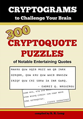 Long R K-Cryptograms To Challenge Your BOOK NEUF